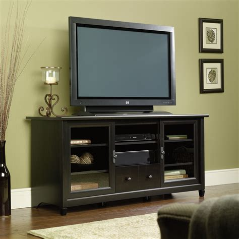 Black Tv Credenza edge water entertainment credenza 409048 sauder