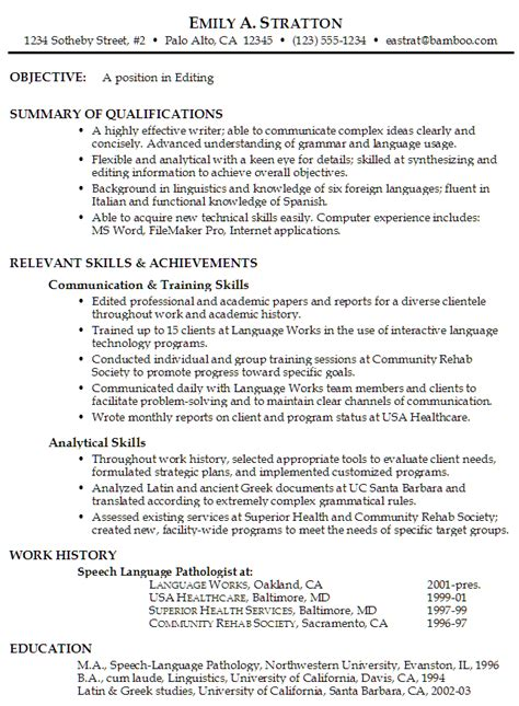 functional resume format look what a functional style resume looks like here