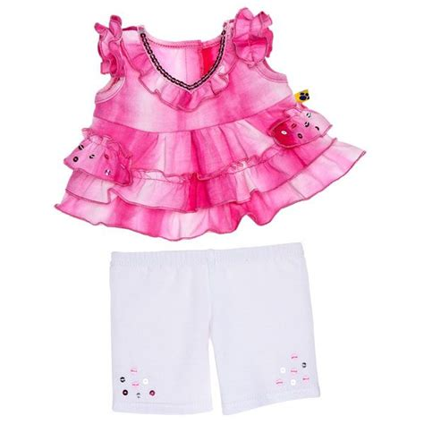 shoes and clothes fuchsia ruffle 2 pc build a