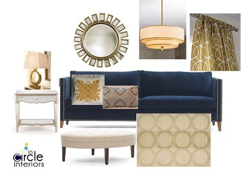 blue and gold home decor incircle interiors blue gold living room design board