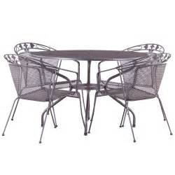 Metal Patio Table Set 150cm 6 Seater Dining Set Silver Metal Garden Furniture