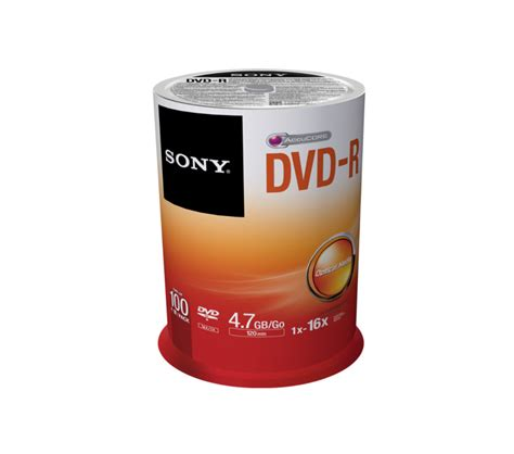 Dvdr Sony sony dvd r 4 7gb 120 minutes pack of 100 100dmr47sp store supplies4 co uk office environment