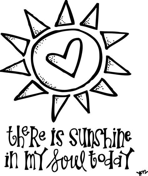 coloring page sunshine melonheadz lds illustrating sunshine in my soul