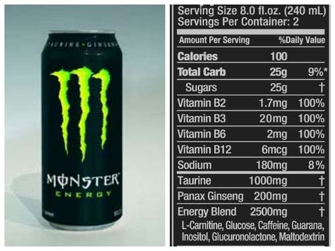 energy drink information how to read the nutritional facts label instituto
