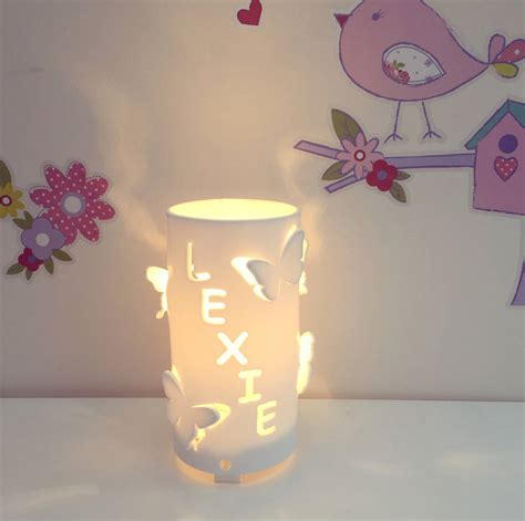 butterfly night light l personalised butterfly children s night light by kirsty