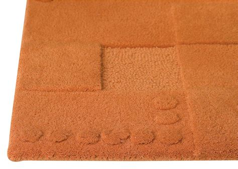 orange floor rugs mat the basics miami area rug orange
