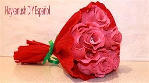 Como Hacer Flores Con Papel Crepe Paso A Paso Tutorial | como hacer rosas con papel crepe faciles paso a paso ramo