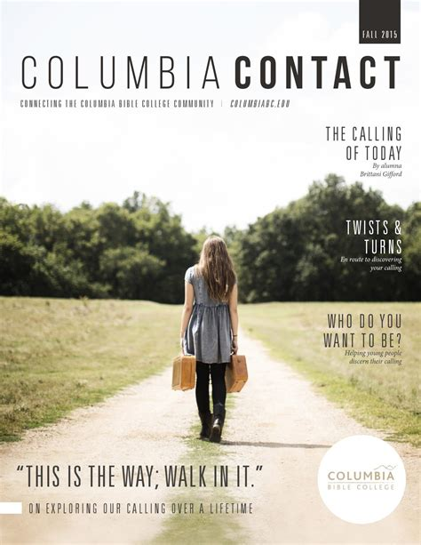 Columbia Mba Courses Fall 2015 by Columbia Contact Fall 2015 Issue By Columbia Bible College