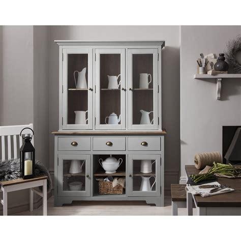 Dresser With Doors Dresser And Sideboard With Glass Doors In Silk Grey Noa