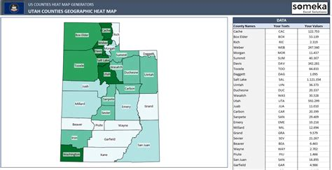 excel us map template us counties heat map generators automatic coloring