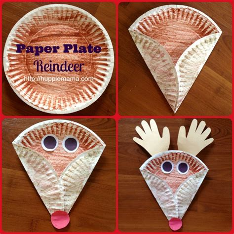 christmas kids craft paper plate reindeer huppie mama