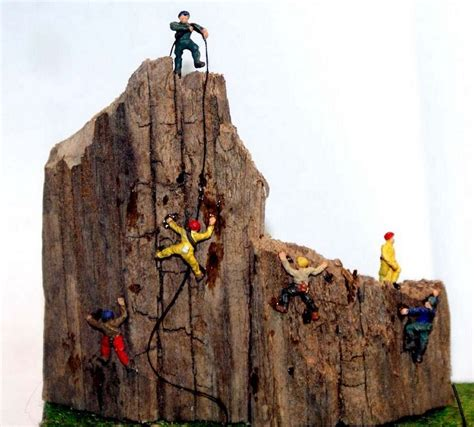 Painting N Scale Figures by Langley Models 6 Rock Climbers N Scale Metal Model
