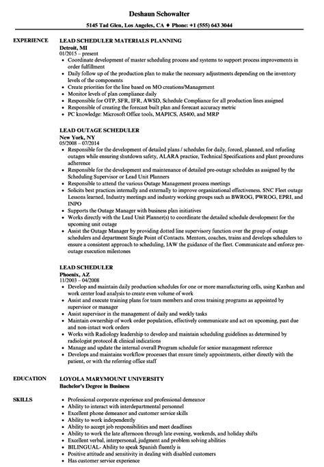 Power Scheduler Cover Letter by Power Scheduler Sle Resume Technical Advisor Sle Resume
