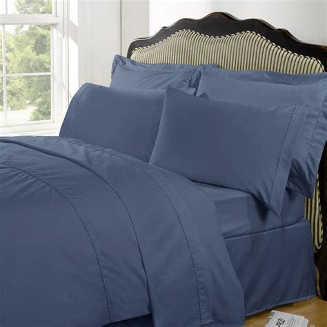 steel blue comforter highams 100 egyptian cotton plain dyed bedding set