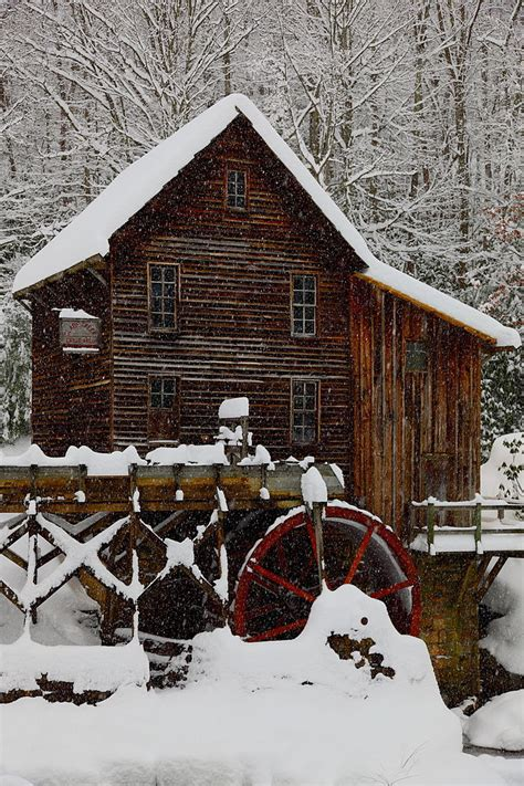 file glade creek grist mill christmas card winter snow