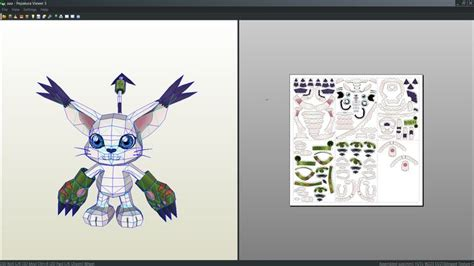 Digimon Papercraft - gatomon digimon papercraft unfold by antyyy deviantart