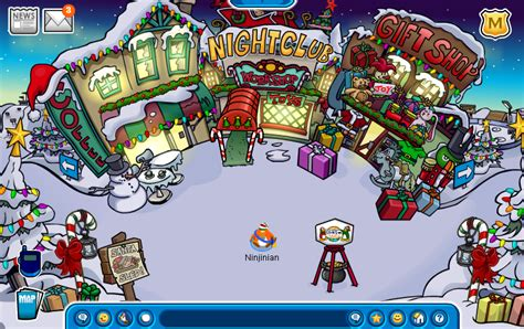 club penguin christmas party 2009 club penguin pins