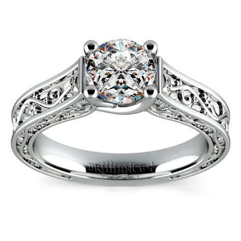 Antique Style Engagement Rings by Antique Style Wedding Rings That Are Conflict Free