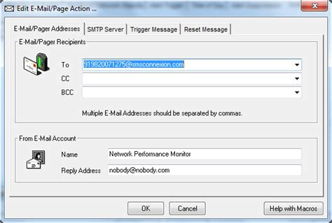 smtp wind mobile how to configure sms alerts in solarwinds npm sms connexion
