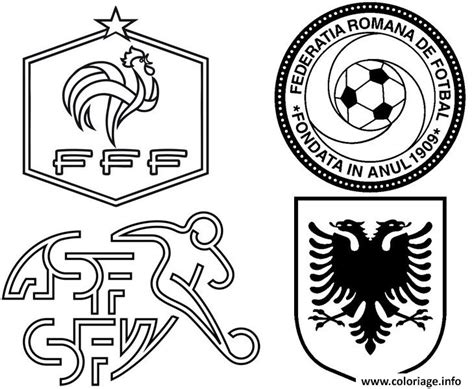 coloriage euro 2016 france groupe france suisse roumanie albanie foot jecolorie