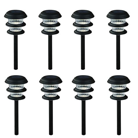 Lowes Led Landscape Lights Shop Portfolio 8 Light 0 Flood Light 0 Spot Light Black 0 Watt 0 W Equivalent Led Path Light