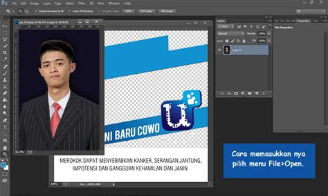cara edit foto cowo u mild pc tutorial