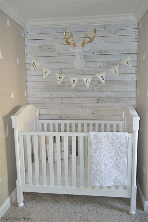Rustic White Baby Crib Gallery Roundup Wood Accent Walls Project Nursery