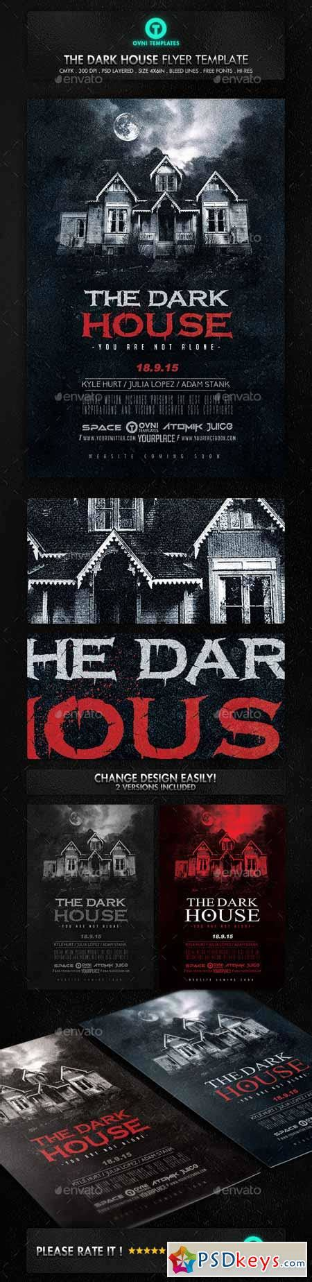 dark house movie dark terror house flyer movie poster 12935923 187 free download photoshop vector stock