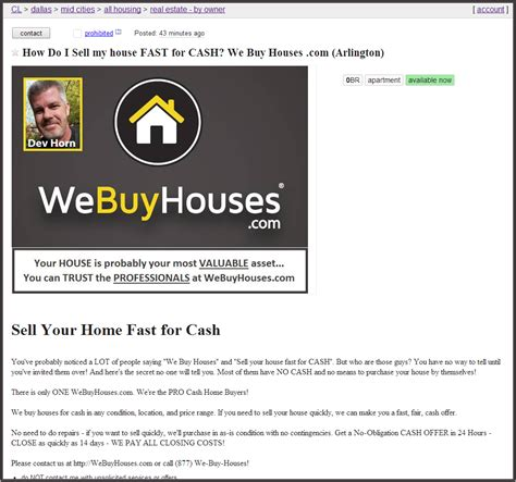 we buy houses ads craigslist strategy we buy houses marketing portal