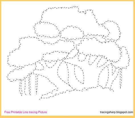 printable tracing images free tracing line printable banyan tree tracing picture