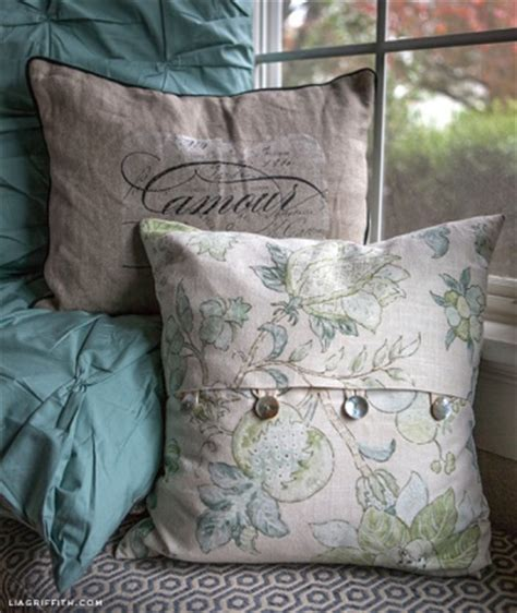 sew home decor easy diy envelope pillow covers by lia griffith project