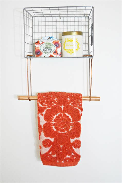 Wire Towel Racks by Wire Basket Towel Rack A Joyful Riot