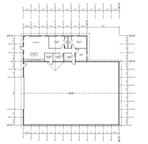 Metal Shop With Living Quarters Floor Plans | 40x60 shop with living quarters plan joy studio design gallery best design