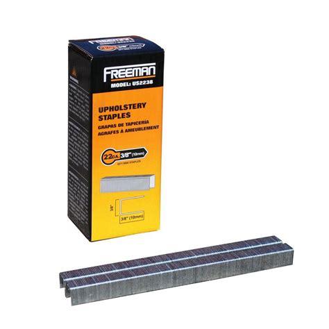 best staple size for upholstery freeman 22 gauge 3 8 in upholstery staples 5 000 per box