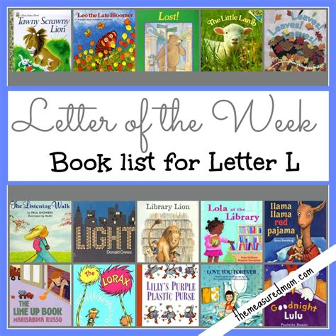 picture books list letter of the week book list for letter l the measured