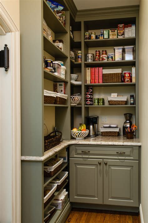 Sumptuous Pantry Shelving trend Baltimore Traditional