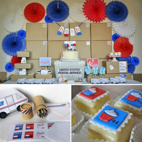 party themes for office post office mail birthday party theme popsugar moms