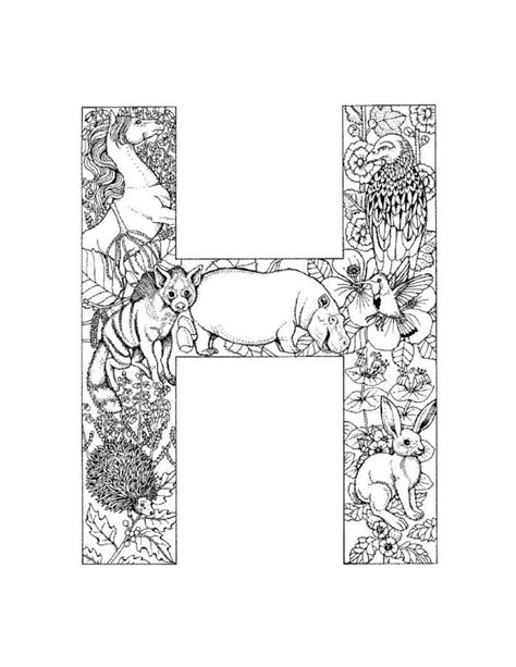H Coloring Pages For Adults by 100 Best Images About Alphabet Coloring On