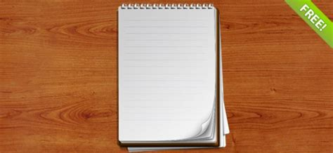 notebook template psd layered spiral bound notebook psd file free