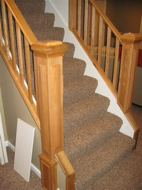 oak banister rail oak railing banister by spike lumberjocks com