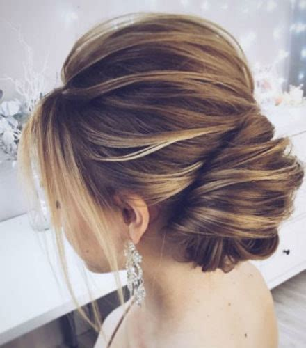 romantic updo for inverted triangle tres chic the updated french twist wedding updo for