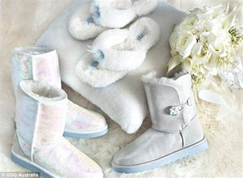 Wedding Uggs by I Don T Ugg Unveils Bridal Boots But Will Anybody Walk
