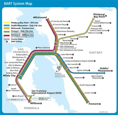 bart system map sfo bart map adriftskateshop