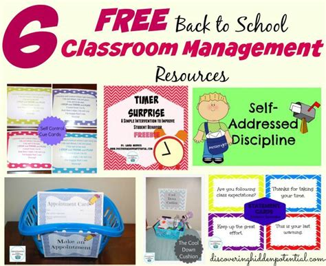 Classroom Management For Mba by 6 Free Back To School Classroom Management Resources Since