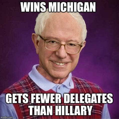 Hilary Meme - bad luck sanders imgflip