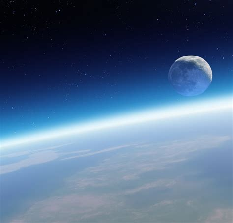 earth atmosphere wallpaper a view of the moon from the earth s atmosphere high