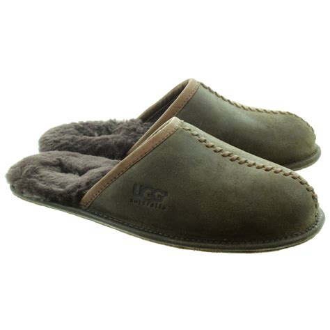 ugg house shoes men ugg mens scuff deco slippers in stout in stout