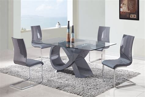 rectangular glass house interior design modern glass dining table top come with rectangular shaped