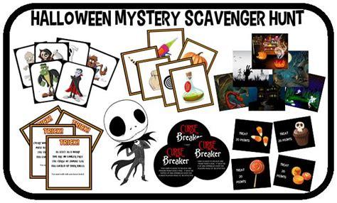 printable detective games printable halloween scavenger hunt mystery game