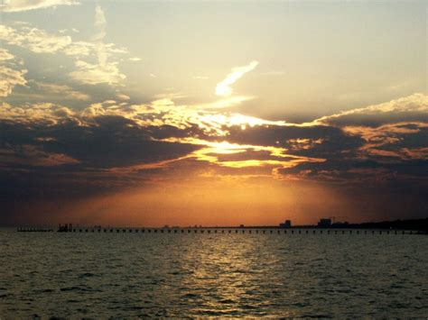 ms sunset biloxi ms sunset at biloxi photo picture image
